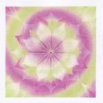 まりこ曼荼羅(紫×グリーン)
