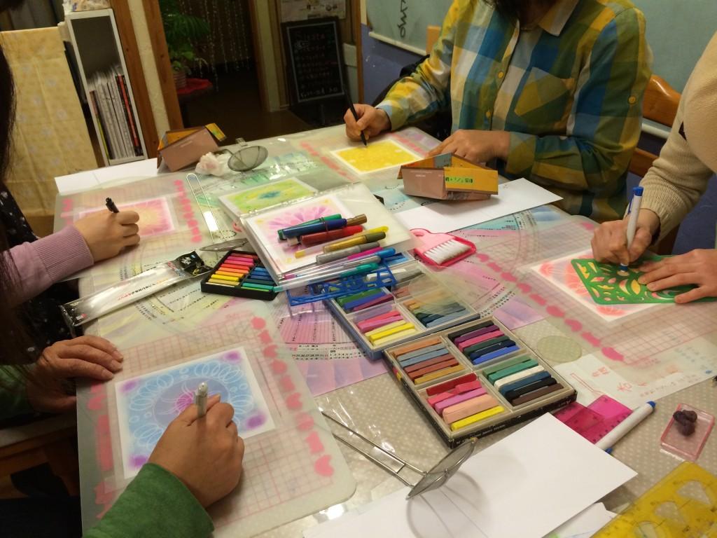 曼荼羅パステルアート教室の変更について